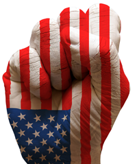 fist+in+american+flag+colors