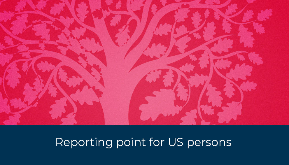 Reporting point Banks and Government for US persons
